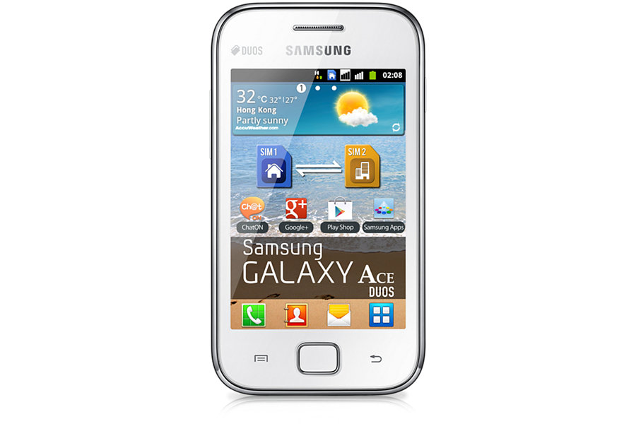 Samsung GT-S6802 GALAXY ACE Duos White