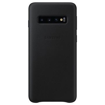 Samsung S10,G973,Leather Cover,Black